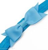 Baby haarbandje kleine, smalle strik (lichtblauw)