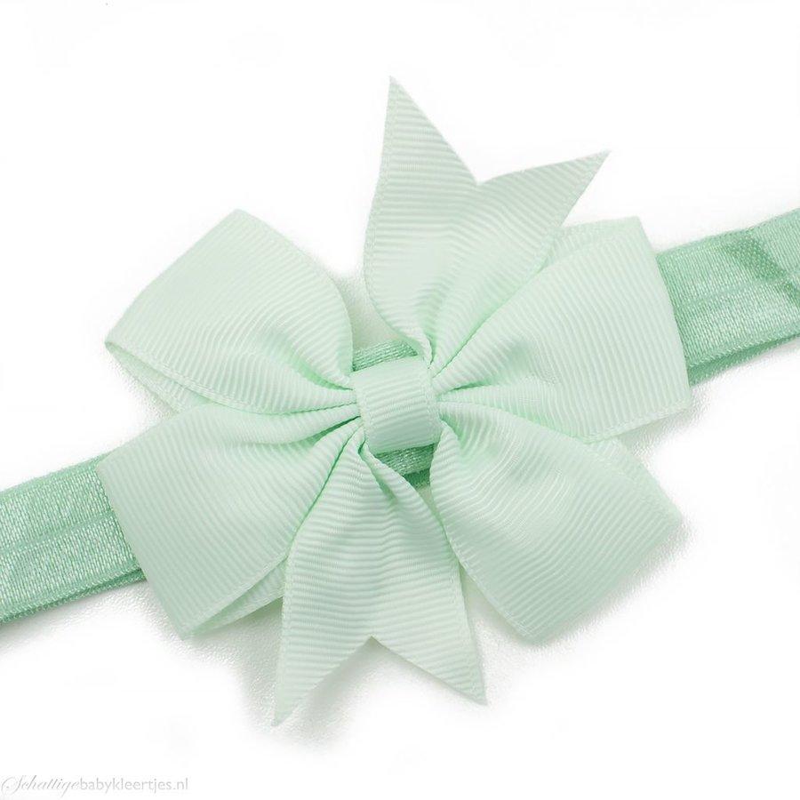 Baby haarbandje strik (mint)