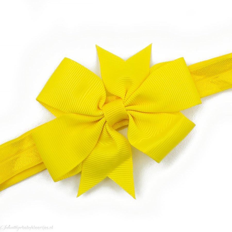 Baby haarbandje strik (geel)