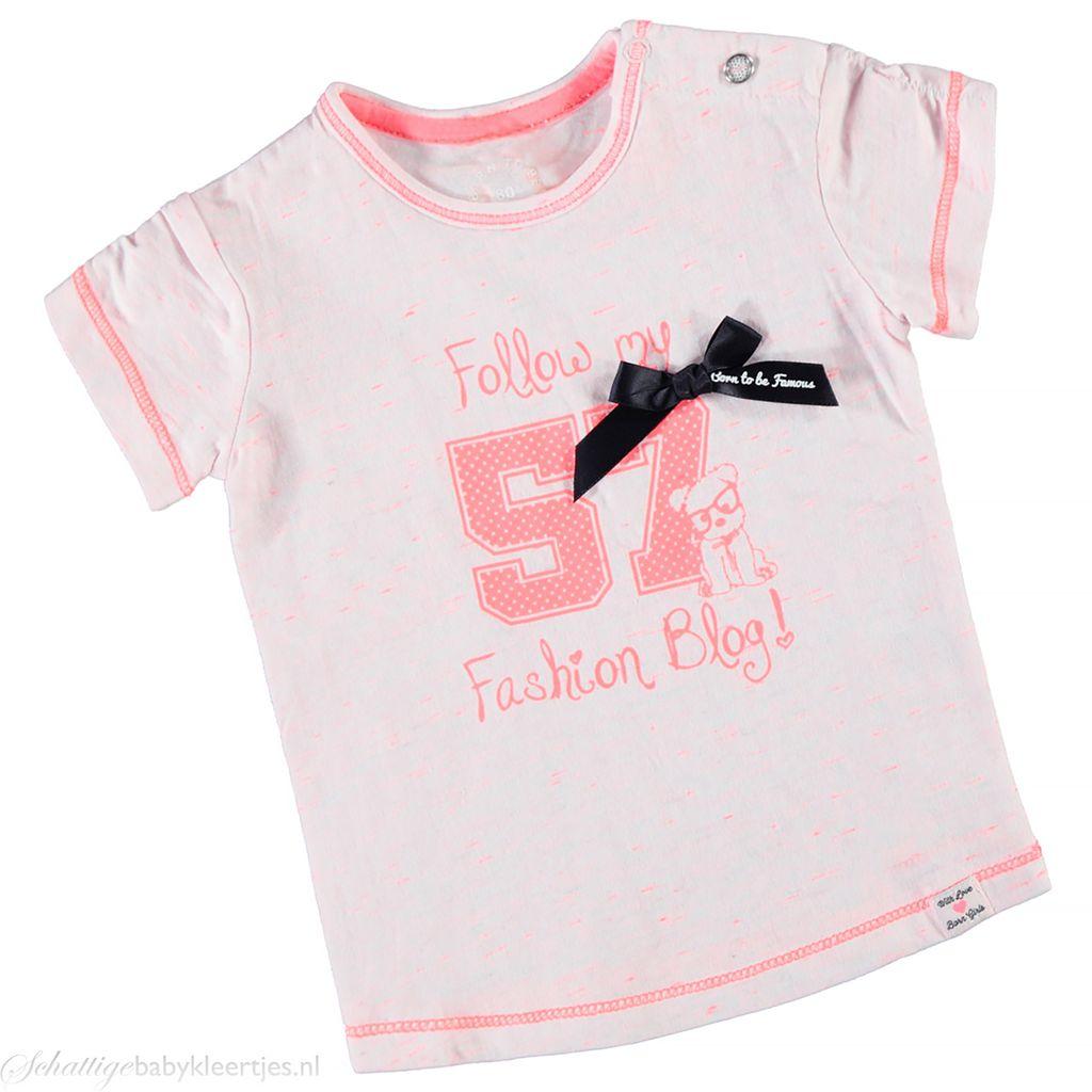 Roze Babykleding.T Shirt Van Born To Be Famous