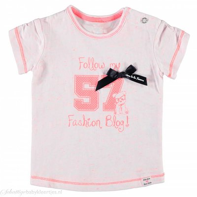 Born to be Famous T-shirt (neon roze)