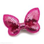 Haarspeldje met gltter vlinder (fuchsia)