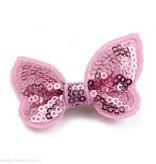 Baby haarspeldje met gltter vlinder (lichtroze)