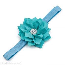 Haarbandje lotus bloem (turquoise)