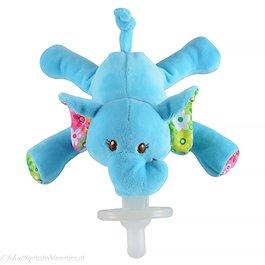 Speenknuffel olifantje (blauw)