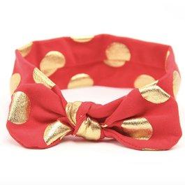 Haarbandje gouden stippels (rood)