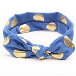 Haarbandje gouden stippels (kobaltblauw)