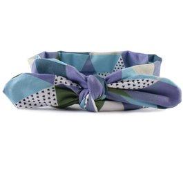 Haarbandje grafisch (paars/blauw/groen/zand/wit)