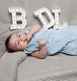 Baby de Luxe Vier seizoenen meegroei slaapzak (grijs)
