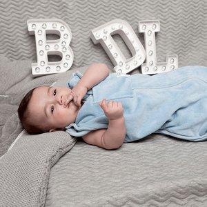 Baby de Luxe Vier seizoenen meegroei slaapzak (lichtblauw)