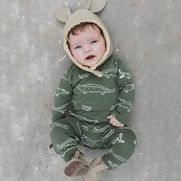 nOeser Jumpsuit Jumpy (croco/woody green)  - See you later alligator