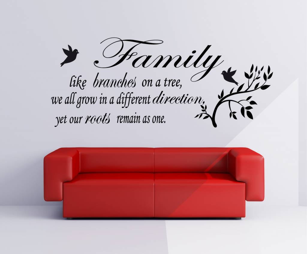 Wall Stickers Inspirational Quotes Family Like Branches On A Tree We All Grow In A Different