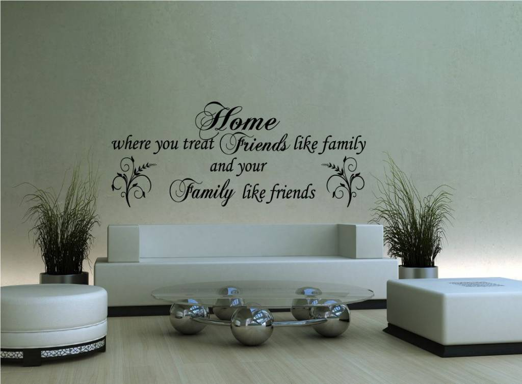 Home where you treat friends like family and family like friends ...