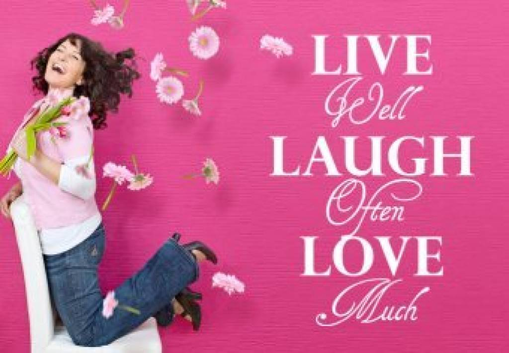 live well laugh often love much muursticker interieursticker qualitysticker. Black Bedroom Furniture Sets. Home Design Ideas
