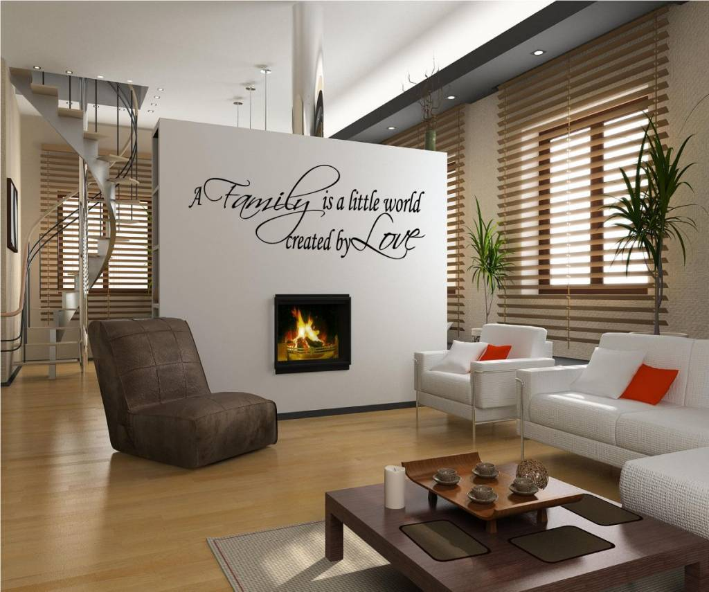 A family is a little world created by love muursticker for Virtual tour kitchen designs