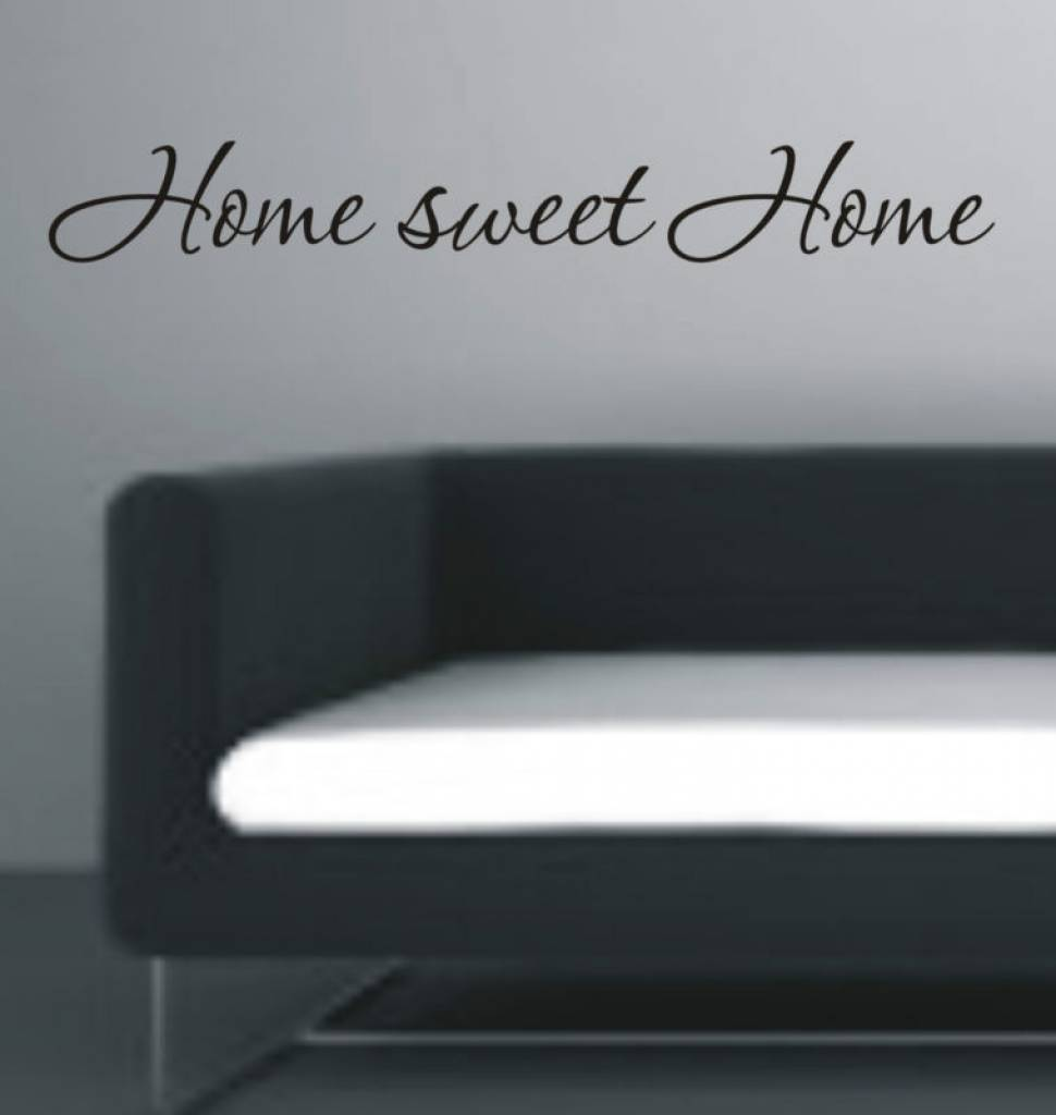Home sweet home. Muursticker / Interieursticker