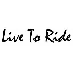 Live To Ride Auto of motor sticker