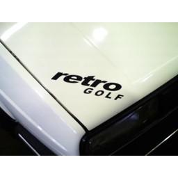 Retro Golf auto sticker