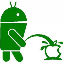 Android vs Apple sticker