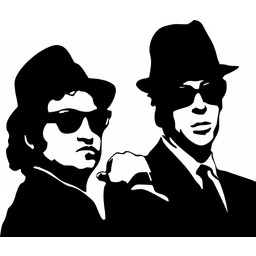 Blues Brothers muursticker