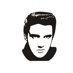 Elvis Presley muursticker