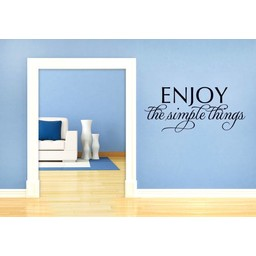 Enjoy the simple things muursticker