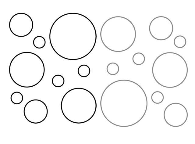 Cirkels 2 kleurig