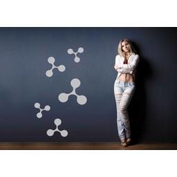 Moleculen set muursticker