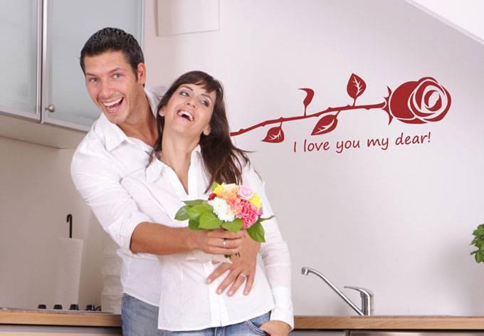 I love you my dear, met roos