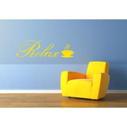 Relax, met koffie kop muursticker