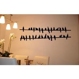 Birds on a wire muursticker