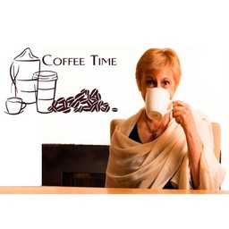 Coffee Time muursticker
