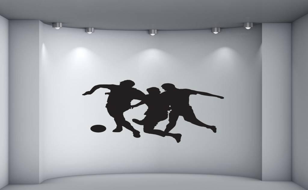 Groep voetballers