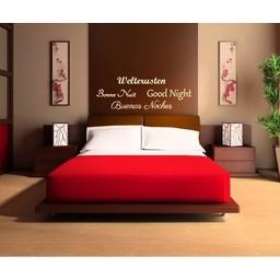 Welterusten, Bonne Nuit, Goodnight, Buenas Noches muursticker