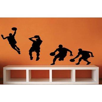 Groep basketbal spelers
