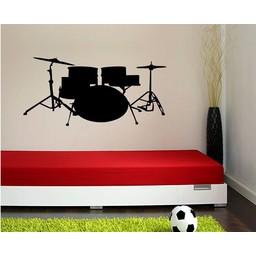 Drumstel muursticker