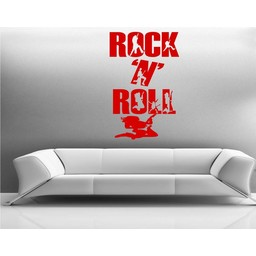 Rock n roll muursticker