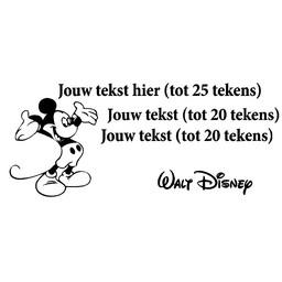 Maak je eigen Mickey Mouse tekst sticker