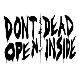 Walking dead. Dont open, Dead inside muursticker