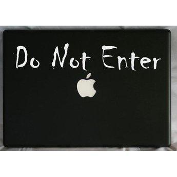 Do not enter laptop sticker