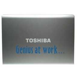 Genius at work laptop sticker