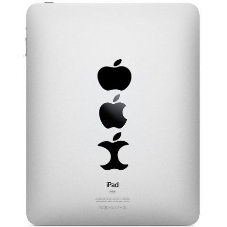 Apple opgegeten laptopsticker