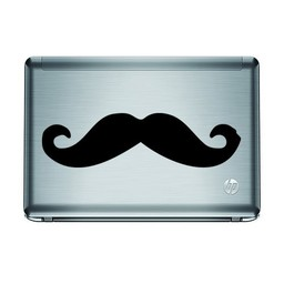 Snor laptopsticker