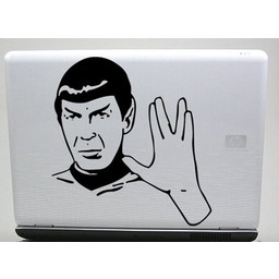 Spock laptopsticker