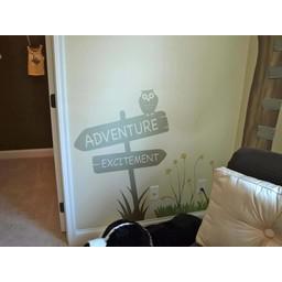 Adventure & exitement sign muursticker
