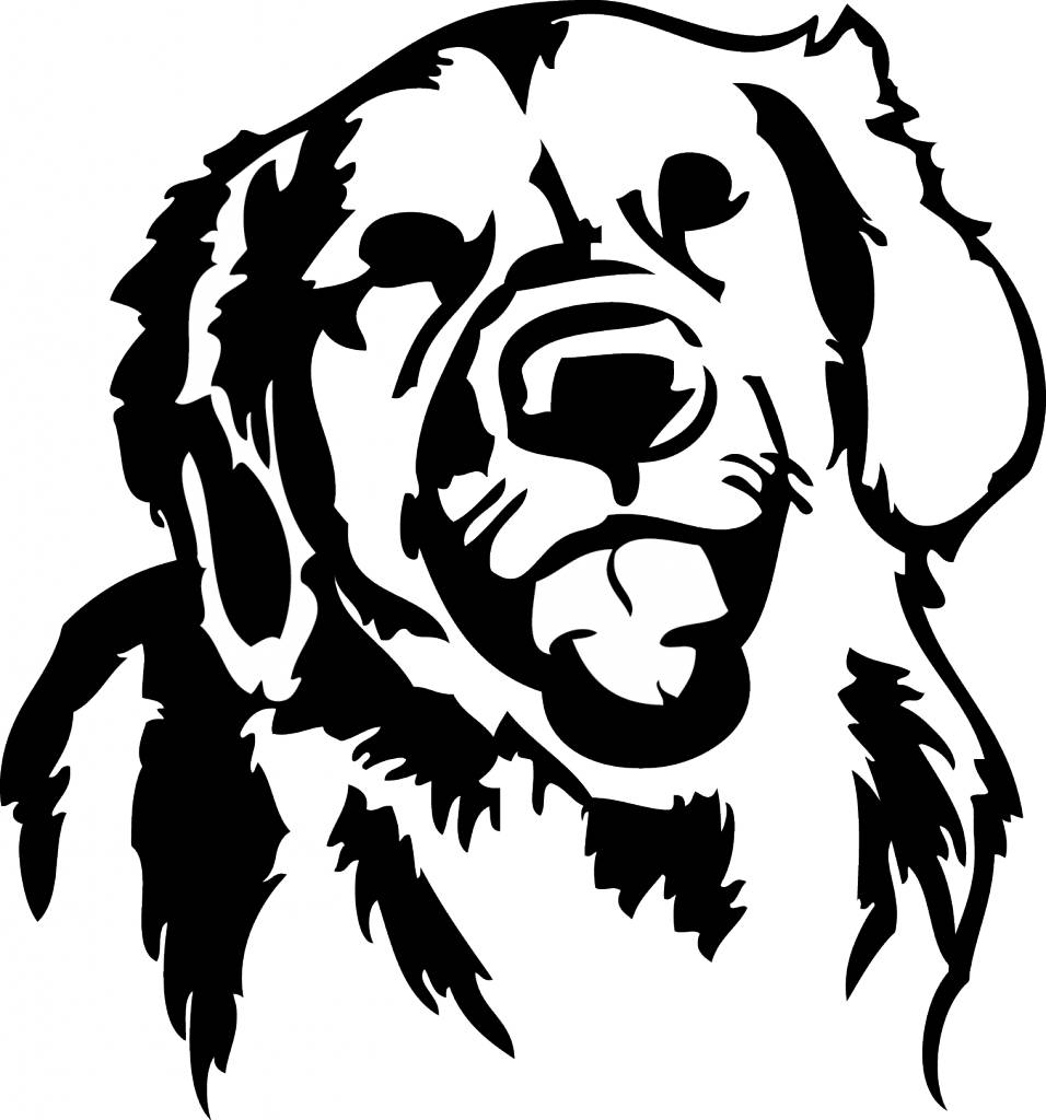 Golden retriever hondje qualitysticker