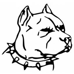Pitbull hondje muursticker