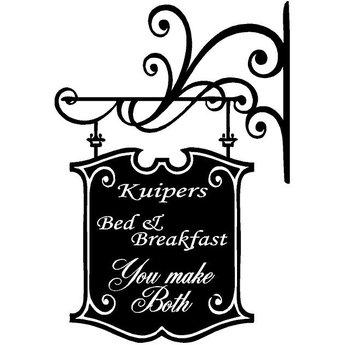 Bed & breakfast. You make both. Kies je eigen naam