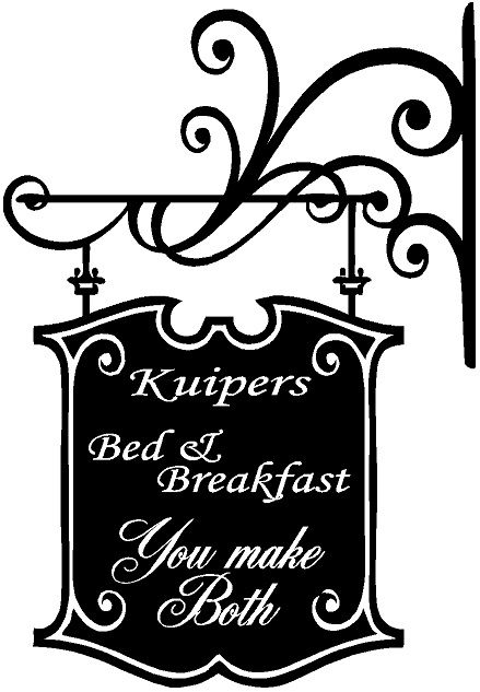 Bed & breakfast. You make both. Kies je eigen naam