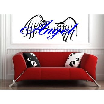 Angel naamsticker 2 kleurig muursticker